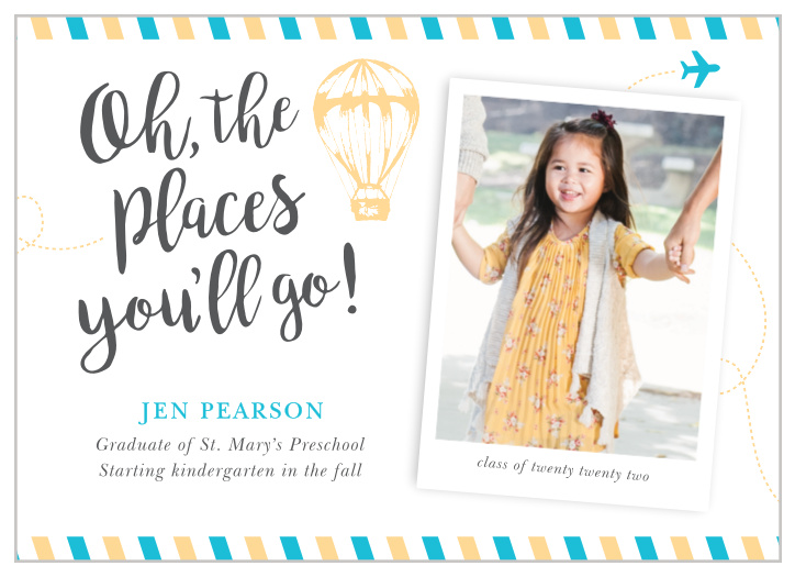 Oh The Places Graduation Announcements Invitations