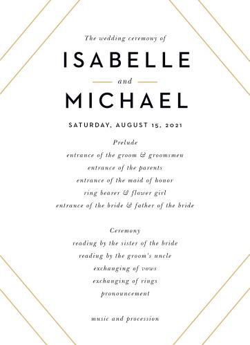 Modern Geometry Wedding Programs