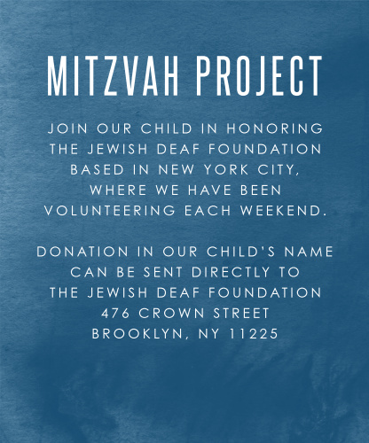 Ski Mountain Bar Mitzvah Project Cards