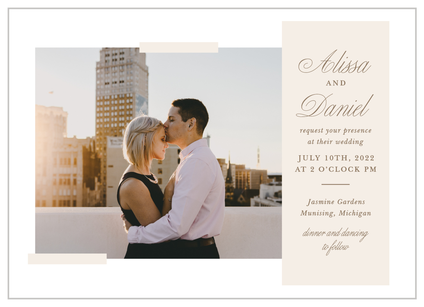 Modern Memories Wedding Invitations by Basic Invite