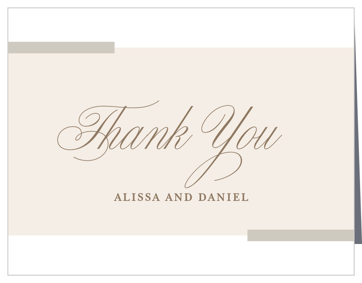 Modern Memories Wedding Thank You Cards by Basic Invite