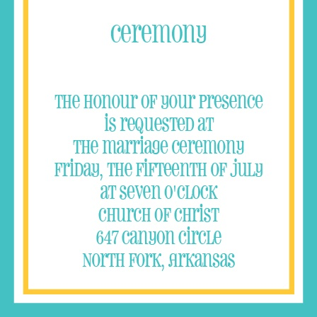 The Bordered Fun Ceremony Cards