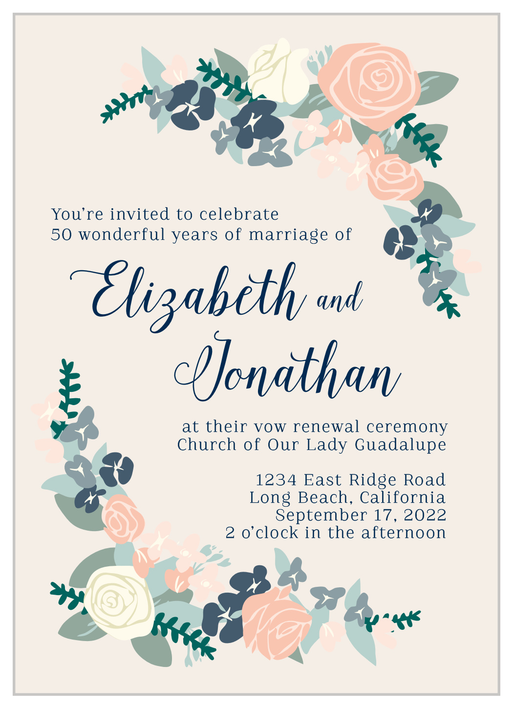 It's just a photo of Free Printable Vow Renewal Invitations pertaining to 10 year
