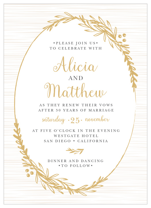 Vow Renewal Invitations Renew Your Love With Basic Invite