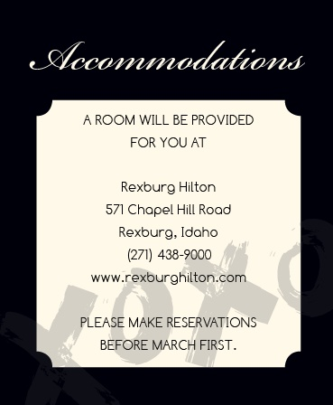 The Hugs & Kisses Accommodation Cards