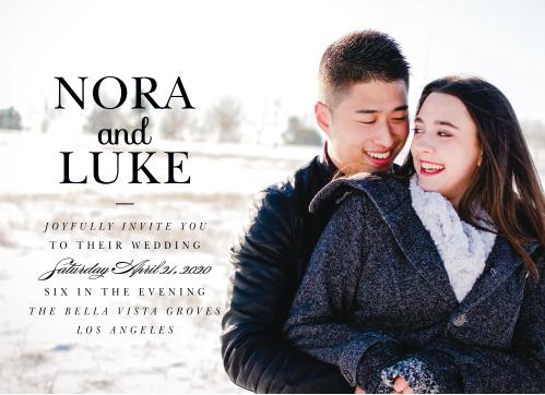 Luxe Type Wedding Invitations