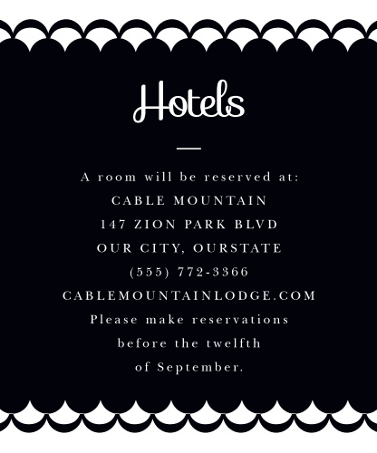 Luxe Type Accommodation Cards