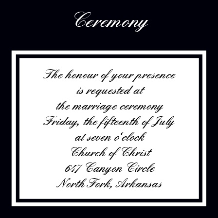 The Classic Ceremony Cards