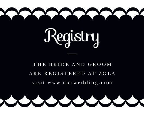 Luxe Type Registry Cards