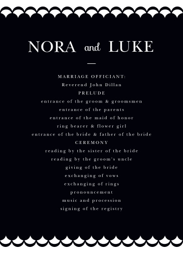 Luxe Type Wedding Programs