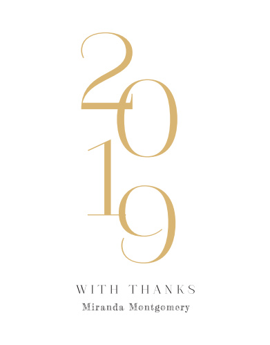 Momentous Year Graduation Thank You Cards