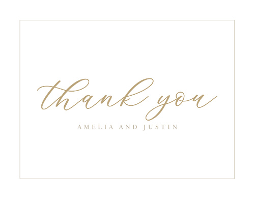Oversize Script Wedding Thank You Cards