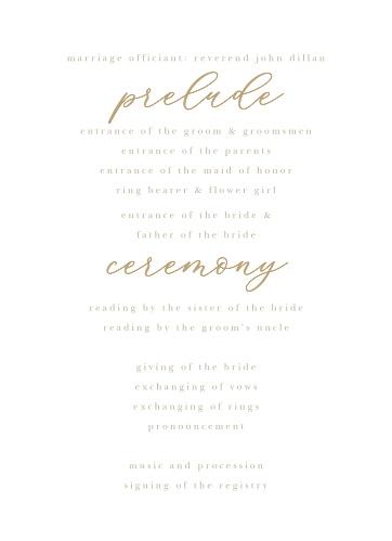 Oversize Script Wedding Programs