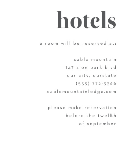 Bold Date Accommodation Cards