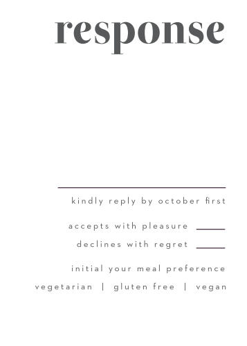 Bold Date Response Cards