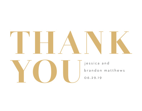 Bold Date Wedding Thank You Cards