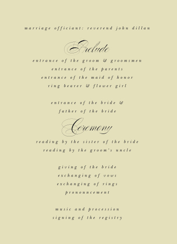 Clean Collage Wedding Programs