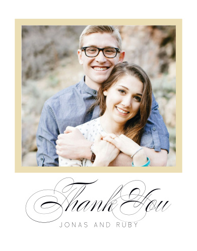 Clean Collage Wedding Thank You Cards