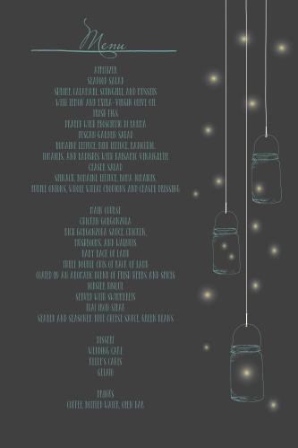 Mason Jars & Fireflies Wedding Menus