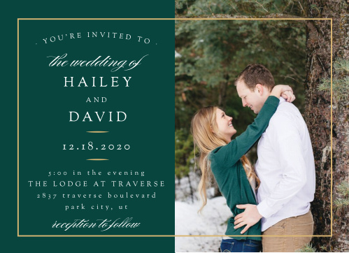 Delicate Frame Wedding Invitations