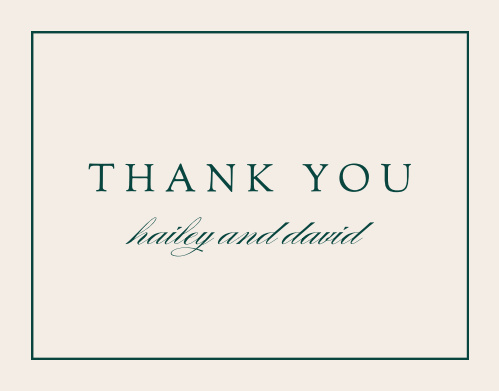 Delicate Frame Wedding Thank You Cards