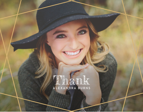 Gemstone Grad Graduation Thank You Cards