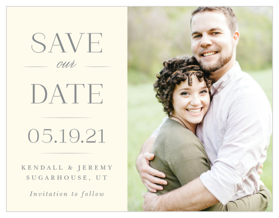 Photo Save The Date Cards | Picture Save The Date - Basic Invite