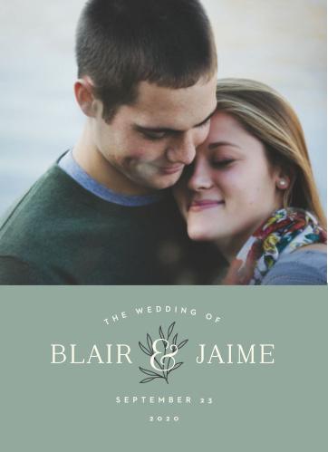 Leafy Label Wedding Invitations