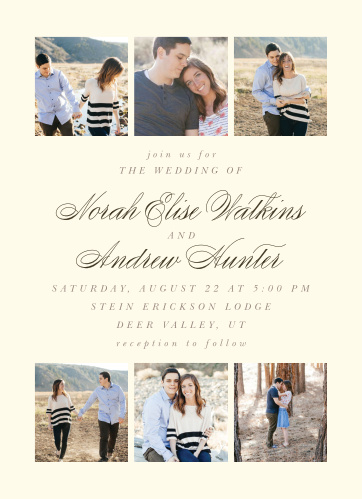 Modern Stacks Wedding Invitations