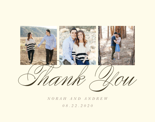 Modern Stacks Wedding Thank You Cards