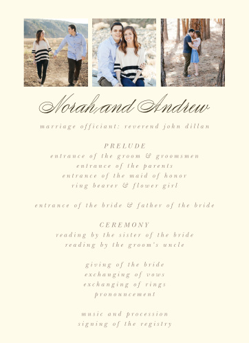Modern Stacks Wedding Programs
