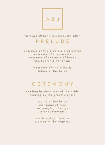 Minimal Block Wedding Programs