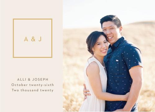Minimal Block Wedding Invitations