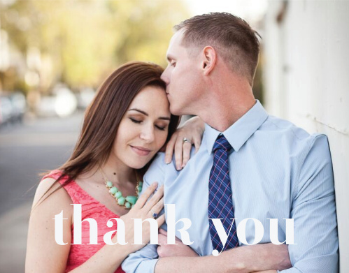 Chic Editorial Wedding Thank You Cards