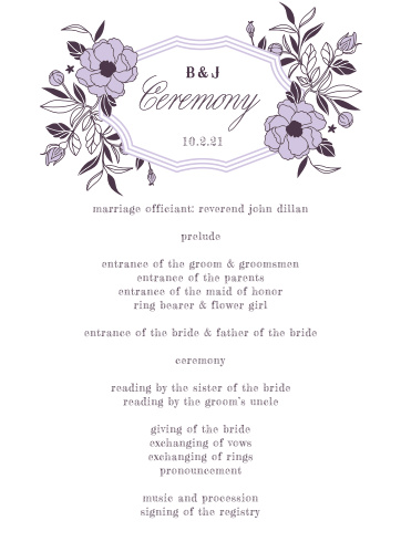 MaeMae's Midge Wedding Programs