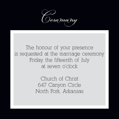Simple Elegance Ceremony Cards