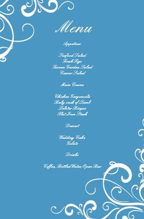 Simple Swirls Wedding Menu