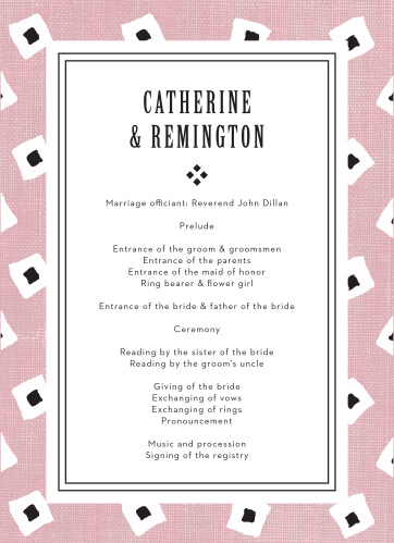 MaeMae's Billingsworth Wedding Programs