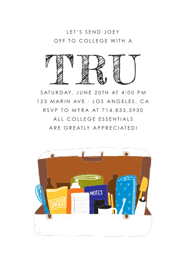College Trunk Graduation Thank You Cards By Basic Invite