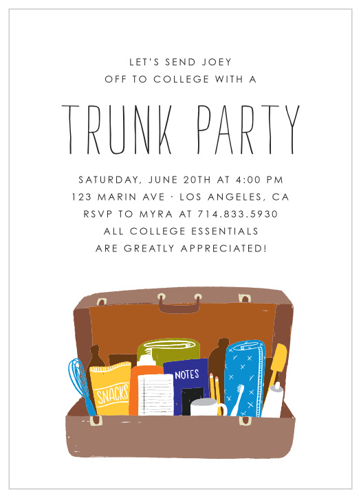 Trunk Graduation Announcements Invitations
