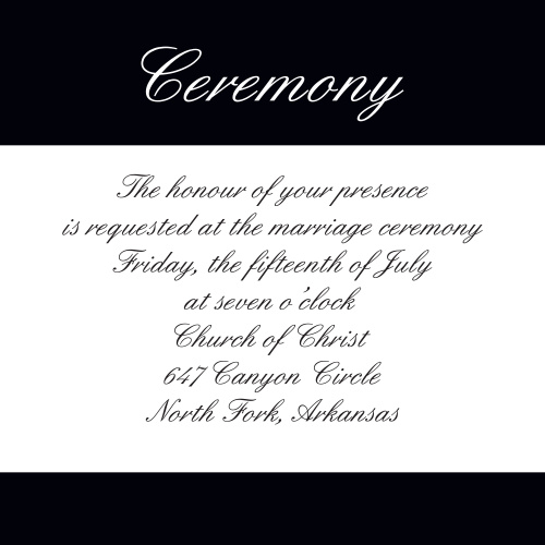 Forever Chic Ceremony Cards