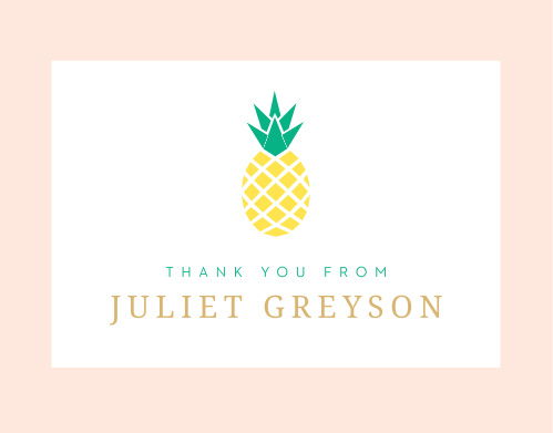 Luau Pineapple Graduation Thank You Cards