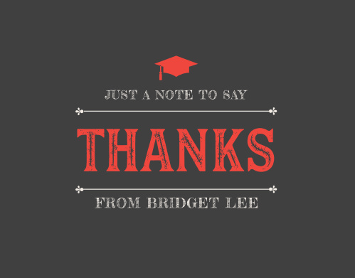 BBQ Celebration Graduation Thank You Cards