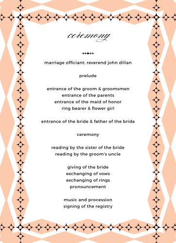 MaeMae's Ralph Wedding Programs