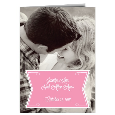 ribbon wedding programs match your color style free