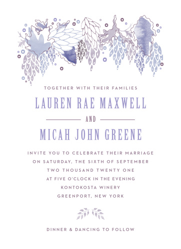 MaeMae's Mundy Wedding Invitations