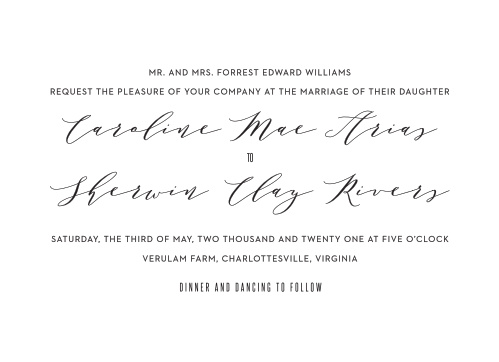 MaeMae's Maeve Wedding Invitations