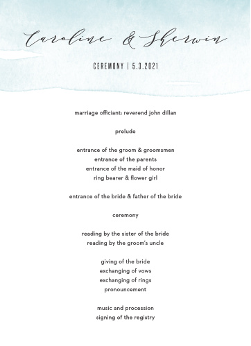 MaeMae's Maeve Wedding Programs