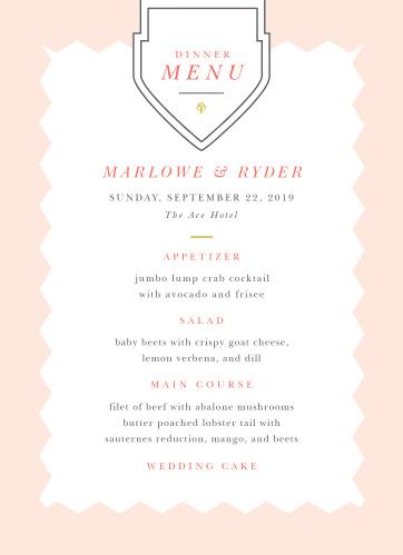 MaeMae's Marlowe Wedding Menus