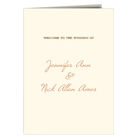 The Autumn Leaves Wedding Programs